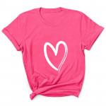 2020  Love Heart-shaped Short-sleeved Women's T-shirt