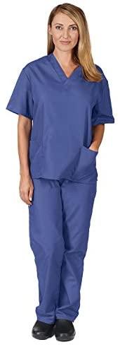 Natural Uniforms Women's Scrub Set Medical Scrub Tops and Pants: Medical Scrubs Apparel Sets: Clothing