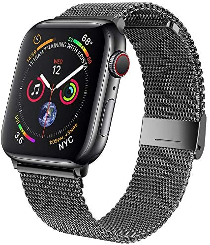 jwacct Compatible for Apple Watch Band 38mm 40mm 42mm 44mm, Adjustable Stainless Steel Mesh Wristband Sport Loop for iWatch Series 6/5/4/3/2/1, SE: Sports & Outdoors
