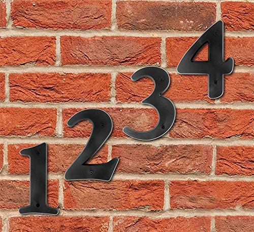 """Hy-Ko Products 30201 Plastic House Number 1 (ONE) 6"""" High, Black, 1 Piece"""