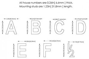 Architectural Mailboxes 3582B-3 4 in. Brass Floating House Number 4