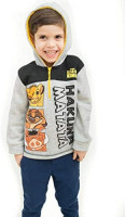 Disney Boys Fleece Zipper Hoodie: Toy Story, Lion King, Mickey & Puppy Dog Pals: Clothing