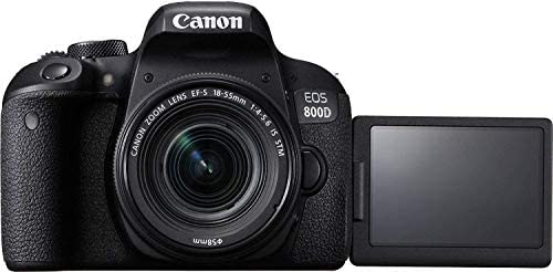 Canon EOS 800D DSLR Camera with 18-55mm is STM Lens with Preferred Accessory Bundle – Includes 2X 64GB SD Memory Cards + Canon Carrying Case + Tripod + Card Reader + More : Camera & Photo