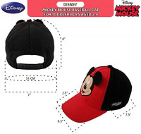 Disney Toddler Boys' Mickey Mouse Character Baseball Cap, Red/black, Ages 2-4: Clothing