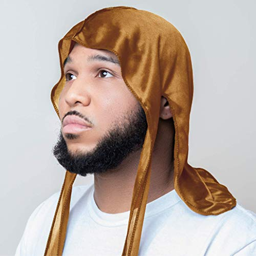 Vintage Apparel Silky Durag for Men and Women - Multiple Colors - Luxury Durags for Waves (Bronze) : Beauty