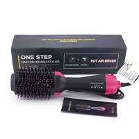 Hot Hair Brush, One Step Hair Dryer 3-in-1 Salon Negative Ion Hair Straightener & Curly Hair Comb Hair Straightener Curler Brush Dryer for All Hair Style : Beauty