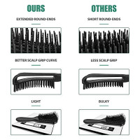Detangling Brush, 2 Pcs Pain Free ez Detangler Hair Brushes Detangling Comb for Afro America/African Women Men Kids Nature Black Hair Textured 3a to 4c Kinky Wavy/Curly/Coily/Wet/Dry/Thick/Long Hair: Beauty