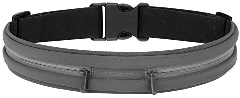 MoKo Sports Running Belt, Outdoor Dual Pouch Sweatproof Reflective Slim Waist Pack, Fitness Workout Belt Fanny Pack Compatible with iPhone 11/11 Pro Max/X/Xr/Xs Max/8/7, Galaxy Note 10/10 Plus, S20/S10 : Sports & Outdoors