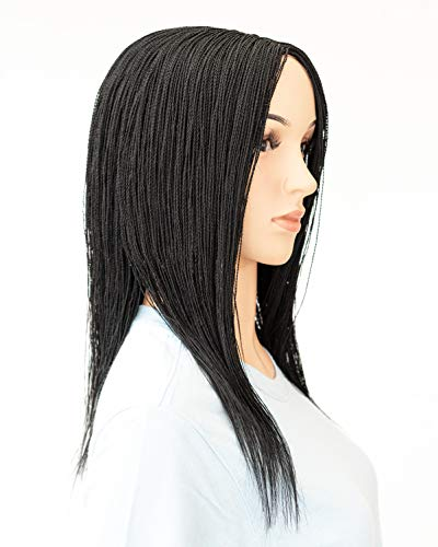 WOW BRAIDS Twisted Wigs, Micro Million Twist Wig - Color 1-12 Inches. Ultra Thin and Light Synthetic Hand Braided Wigs for Black Women. : Beauty