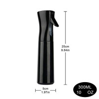 Fine Mist Continuous Spray Bottle for Hair, Uceoo Black Mist Spray Bottle Hair Mist Bottle for Curly Hair 10oz / 300ml : Beauty