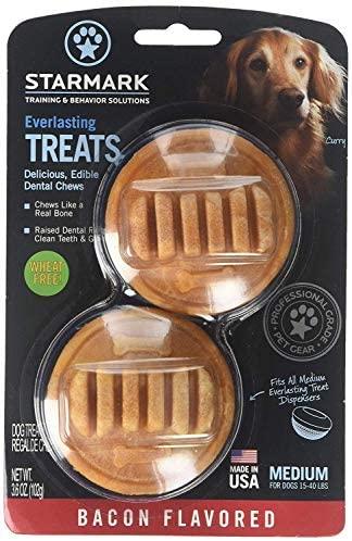 StarMark Everlasting Bacon Dog Dental Chew, Medium, 3.6 oz (2) : Pet Supplies