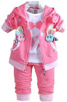 Baby Girls 3 Piece Sets T Shirt Vest and Pants: Clothing