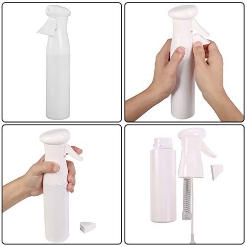 HEQUSigns 2 Pcs Hair Spray Bottle, 300ml Salon Hairdressing Sprayer Continuous Water Mister Empty Spray Bottle Fine Mist Spray Bottle for Plants, Cleaning, Hair Styling : Beauty