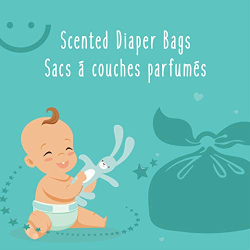 Baby Works Disposable Diaper Bags, Baby Powder Scent Neutralizes Odors, Diaper Disposal or Pet Waste Bags - 200 Count : Baby