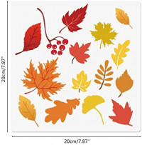 """Fall Stencils, 5 Packs Autumn Farmhouse Pumpkin Maple Leaf Home Sweet Home Reusable Seasonal Stencils Mylar Template for Painting on Wood Wall Paper Fabric 8"""" x 8"""""""