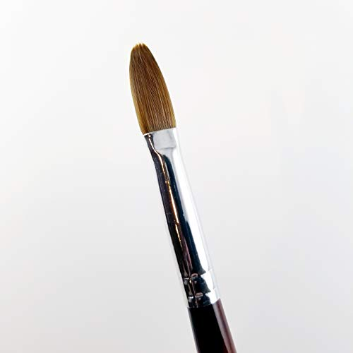 EX Kolinsky Acrylic Powder Nail Brush (CRIMPED) (EX Kolinsky CRIMPED Size 6) : Beauty