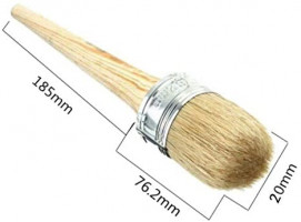 Professional Chalk and Wax Paint Brush,2 Pack Round Paint Brush/DIY Painting and Waxing Tool for Folk Art, Home Décor, Wood Projects, Furniture, Stencils | Reusable, Natural Bristles: Arts, Crafts & Sewing