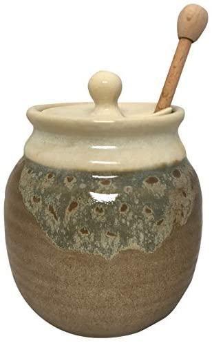 Clay in Motion Honey Pot (Desert Sand): Home Improvement