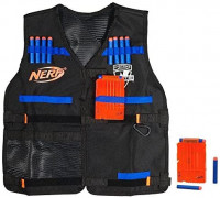 Official Nerf Tactical Vest N-Strike Elite Series Includes 2 Six-Dart Clips and 12 Official Nerf Elite Darts ( Exclusive): Toys & Games