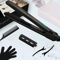 Flat Iron Hair Straightener and Curler 2 in 1, Upgrade Ceramic 3D Floating Flat Iron with Metal Ceramics Heater – Straightens & Curls All Hair Types and Lengths, Frizz-free & Anti-static Ionic Plates : Beauty