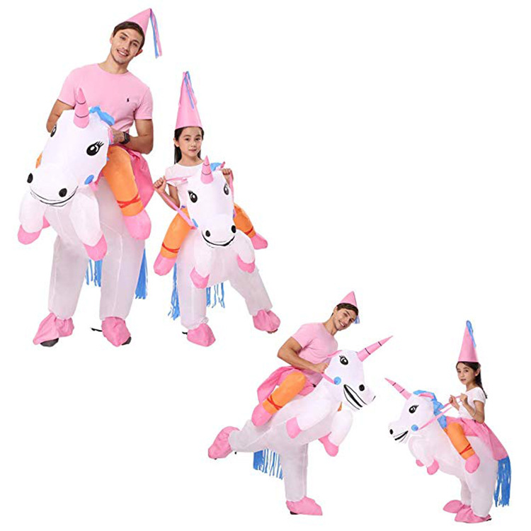 Children's Unicorn Pegasus Riding Inflatable Costume Halloween Funny Funny Stage Props-