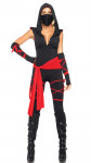 Ninja Masked Warrior Women's Halloween Cosplay Pirate Costume Black Ninja Costume Stage Night Costume-