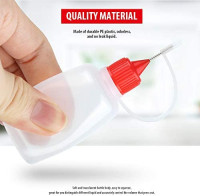 Bestsupplier 12 Pcs 30ml / 1 Ounce Empty Needle Tip Glue Bottle Applicator DIY Quilling Tool Precision Bottle (Random Color): Office Products