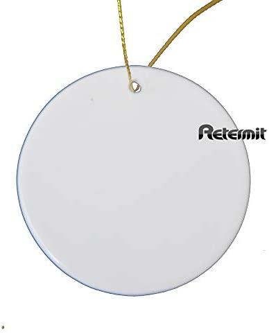 """RETERMIT 10 pcs Sublimation Ceramic Ornament Christmas Tree Decor Disc Ornament for Sublimation Sublimation Blanks Blank Ceramic Ornaments (3"""" Round): Home & Kitchen"""