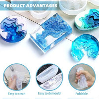 DIYcraft Resin Jewelry Molds, 4Pcs Silicone Jewelry Molds for Epoxy Resin,UV Resin, Resin Casting Molds for Jewelry Making Including Pendant, Bracelet, Earring, Diamond Molds: Arts, Crafts & Sewing