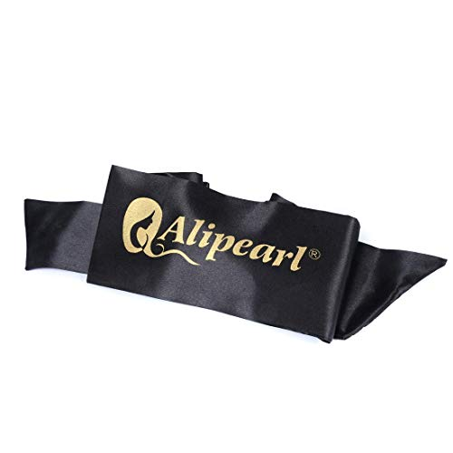 Ali Pearl Silky Edge Styling Scarf Frontal Headband & Edge Brush for Baby Hair & Soft Tape Measure & Cute Makeup Bag Set to Make Perfect Edges : Beauty