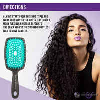 CURLY HAIR SOLUTIONS - The Original FLEXY BRUSH (Turquoise) : Beauty