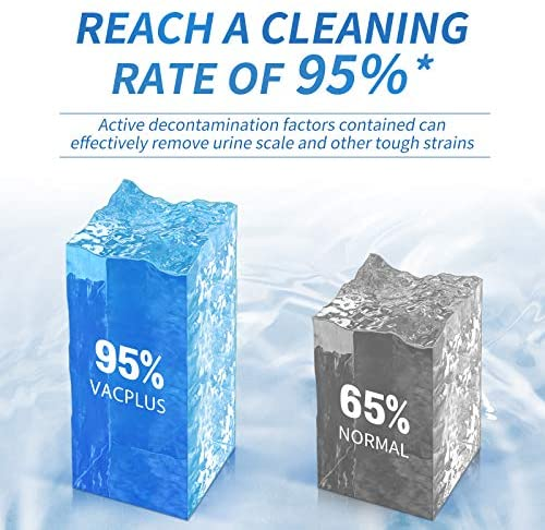 Vacplus Automatic Toilet Bowl Cleaner Tablets(12 PACK), Bathroom Toilet Tank Cleaner, Toilet Blue Clean Bubbles, Long-lasting, Fresh Smell, No Pungent Odor: Health & Personal Care