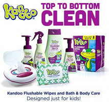 Flushable Wipes for Baby and Kids by Kandoo, Unscented for Sensitive Skin, Hypoallergenic Potty Training Wet Cleansing Cloths, 250 Count, Pack of 4: Health & Personal Care