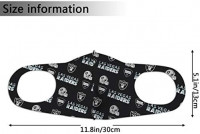 NFL Las Vegas Raiders Dust Mask Face Cover Bandanas Balaclava Washable Reusable Masks Mouth Mask for Men and Women: Clothing