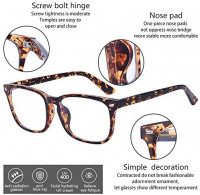 ALWAYSUV Blue Light Filter Computer Glasses for Blocking UV Headache Anti Eye Fatigue Transparent Lens Unisex Leopard Print: Clothing