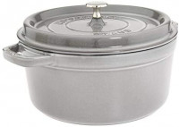 Staub Cast Iron 5.5-qt Round Cocotte - Turquoise: Kitchen & Dining