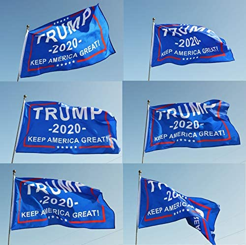 Eugenys Donald Trump 2020 NO More Bullshit Flag (3x5 Feet) - Free 10 Car Truck Bumper Stickers Included - Bright Colors and UV Resistant Polyester - Large Trump Flag Banner with Durable Brass Grommets : Garden & Outdoor
