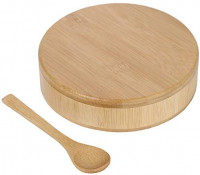 Lily's Home Barkeeper's Salt Box, Bamboo Spice Storage Box with Magnetic Lock and a Bamboo Spoon. Margarita Rim Salting Dish: Kitchen & Dining