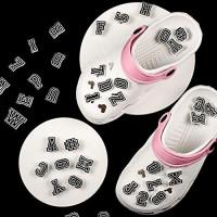 74 Pieces Letter Number Shoe Charm PVC Shoe Charm Decoration for Clog Shoes Wristband Bracelet DIY Project, 0-9 Number, A-Z Letter: Clothing