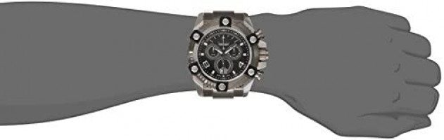Invicta Men's 0338 Reserve Arsenal Swiss Chronograph Big Date Stainless Steel Bracelet Watch: Watches