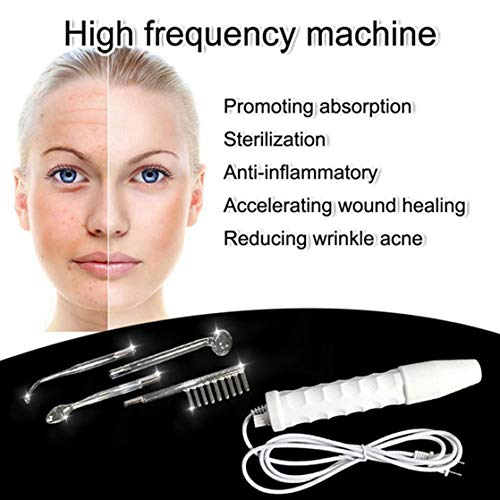 Topbarber High Frequency Machine Facial Care Portable 4 Beauty Probes Wrinkles Remover Tightening Acne Spot Beauty Therapy Puffy Eyes: Beauty