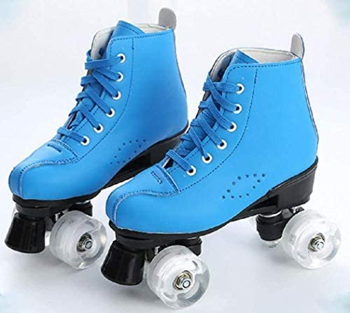 Women's Roller Skates Pu Leather High-Top Roller Skates, Double-Row Roller Skates, Unisex Roller Skates with Handbags : Sports & Outdoors