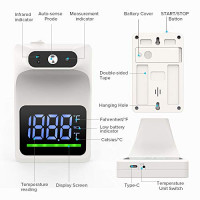 Wall Mounted Thermometer, GEKKA Forehead Thermometer for Adults Non-Contact, Digital No Touch Wall Mount Infrared Thermometers with LCD Display Fever Alarm for Public Place Self-Testing: Industrial & Scientific