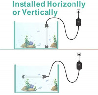hygger 50W Mini Inline Quartz Glass Aquarium Heater with External Controller, Adjustable Submersible Betta Fish Tank Thermostat for 5-15 Gallon: Pet Supplies