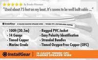 InstallGear 14 Gauge Tinned OFC Heavy Duty Boat Marine Speaker Wire, 50 feet: Car Electronics