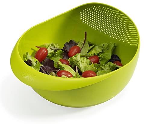 Joseph Joseph Prep & Serve Multi-Function Bowl with Integrated Colander, Small, Green: Kitchen & Dining