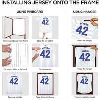Jersey Display Frame Mahogany Finish Case Large Shadow Box Lockable with UV Protection Acrylic Hanger and Wall Mount Option for Baseball Basketball Football Soccer Hockey Sport Shirt : Sports & Outdoors