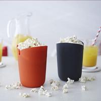 Joseph Joseph M-Cuisine Microwave Popcorn Popper Maker Single Serve Portion Silicone Food Safe, 2-piece, Multicolored: Kitchen & Dining