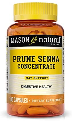 Mason Natural Prune Senna Concentrate Capsules, 100 Count: Health & Personal Care
