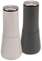 Joseph Joseph - 95036 Joseph Joseph Milltop Salt and Pepper Grinder Set with Adjustable Grind Size Coarseness, Dark Gray/White, 2-piece: Home & Kitchen